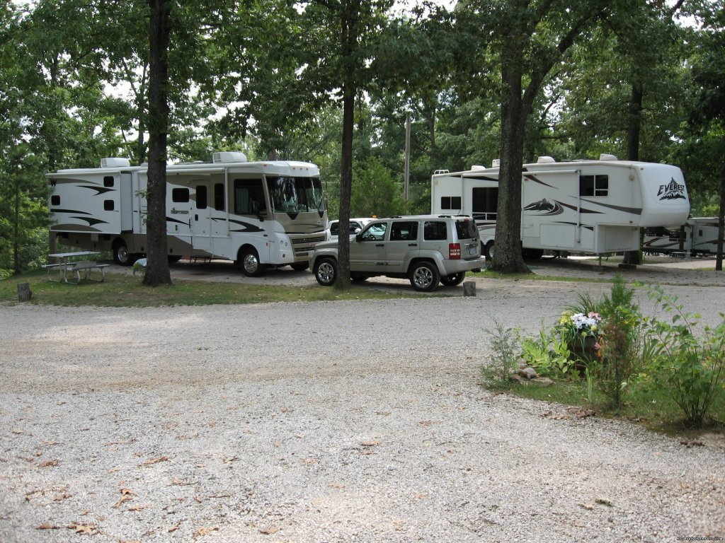Google Camelot RV Campground, Poplar Bluff MO for info and reservations. Open All Year, 76 Full Hookups 30/50amp, WiFi, Cable TV, Laundry, Propane, Daily, Weekly, Extended stay, 20% discount. Located between Branson MO and Nashville TN. Safe travels.