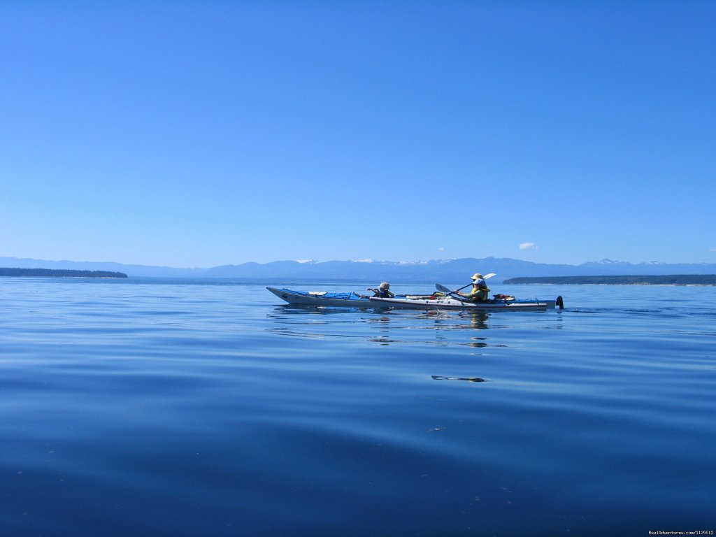 Vancouver Island in the distance | Image #24/25 | Sea Kayak Tours Desolation Sound, British Columbia