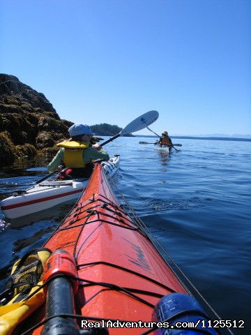 Family Paddling Copeland Islands - Sea Kayak Tours Desolation Sound, British Columbia