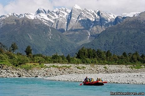 Heli-rafting, whitewater rafting and multiday camping/rafting expeditions across the west coast of the south island. Scenic gorges, glacial backdrops, excellent whitewater, cliff jump, canyon swims, live monster eels... Trips range from grades 2-5.