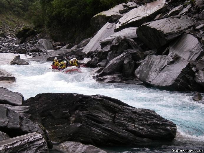 Hokitika river slip rapid | Image #3/13 | Heli Rafting, half day to Multi day Adventures