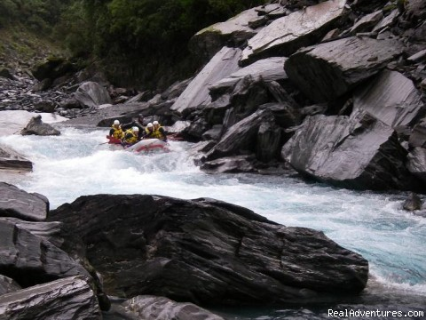 Hokitika river slip rapid - Heli Rafting, half day to Multi day Adventures