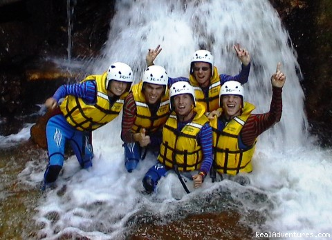 Side canyon waterfall - Heli Rafting, half day to Multi day Adventures