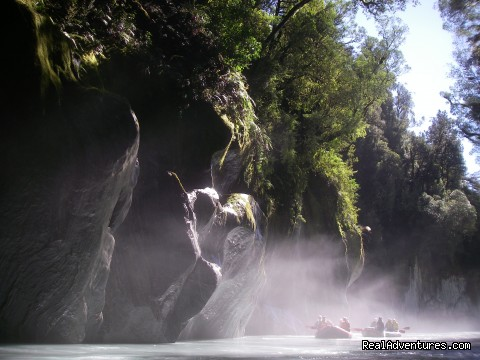 Mist in the Whataroa canyon - Heli Rafting, half day to Multi day Adventures
