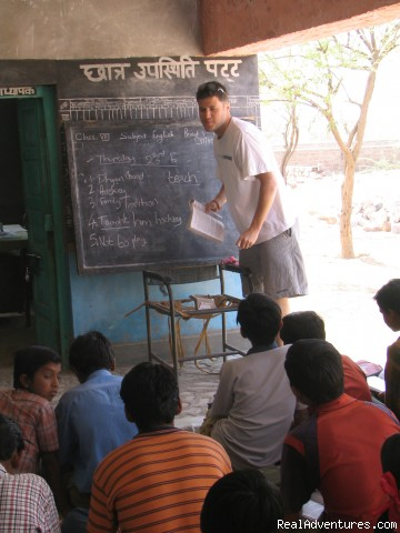 Volunteer-India *Teach, Care & Community*: Class-room teaching in rural school...