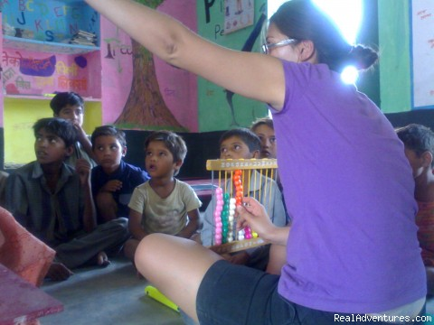 Teaching...village school... - Volunteer-India *Teach, Care & Community*
