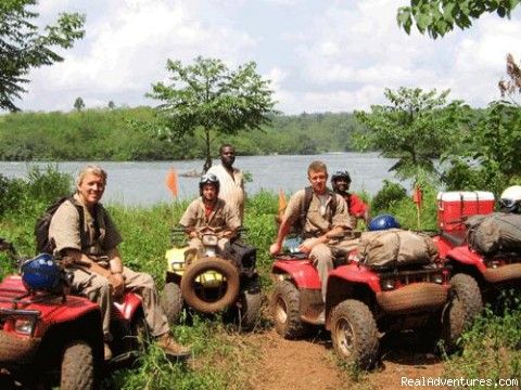 Quadbike safaris beside the River Nile in Uganda - Roar of de Nile Guided ATV / Quad Bike Safaris