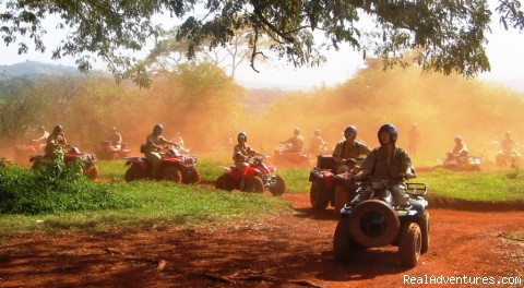 Training / practice circuit - pre safari - Roar of de Nile Guided ATV / Quad Bike Safaris