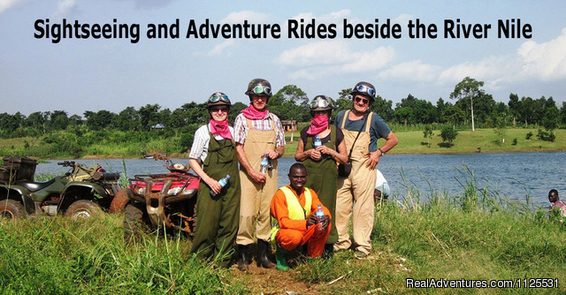 Sightseeing and adventurerides beside the River Nile - 'the best' ATV / Quad Bike Safaris in Africa