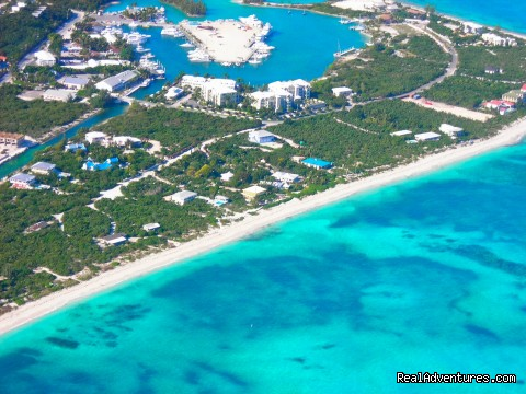 Aerial View of Villa's Oceanfront Location - Oceanfront Villa on Grace Bay Beach