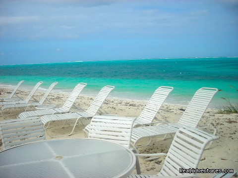 Chaise Lounges & Chairs Provided Overlooking the Ocean - Oceanfront Villa on Grace Bay Beach