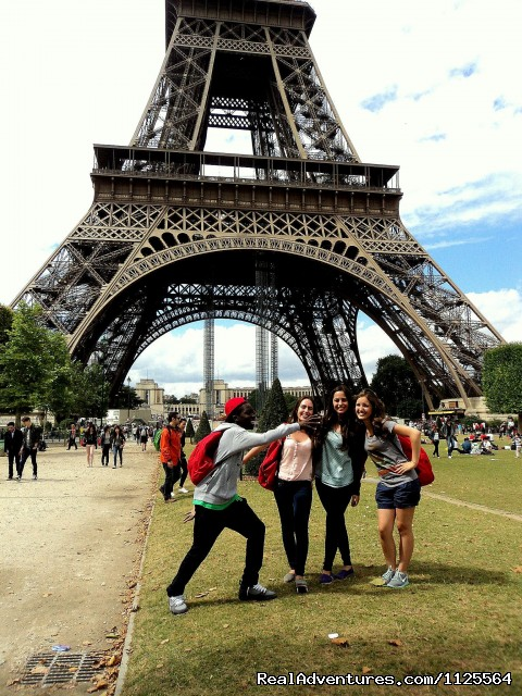 At the Eiffel Tower (#6 of 18) - French Summer courses in Paris for Juniors