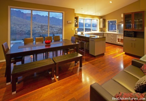 Dining/kitchen area (#2 of 14) - Spaview Luxury Villa in Queenstown, New Zealand