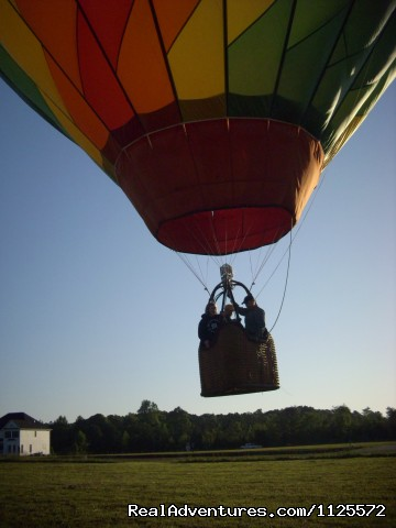 Sunrise In A Hot Air Balloon With Eagles Wings Rock Hill