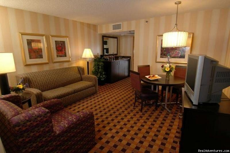 Suite Living Room | Image #2/8 | Embassy Suites Hotel Minneapolis-Airport