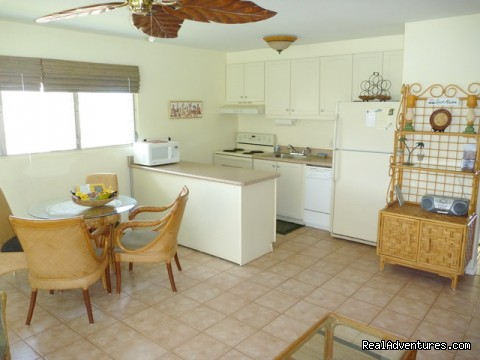 Well-stocked kitchen has everything you'll need! - OCEAN VIEW FROM ALL ROOMS-Top Floor, End Unit