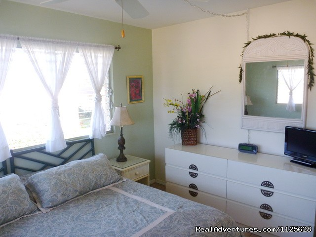 Large bedroom has comfy king-sized bed - OCEAN VIEW FROM ALL ROOMS-Top Floor, End Unit