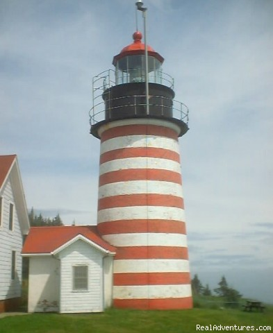 West Quoddy Lighthouse way Down East in Maine - Exciting Lighthouse Tours