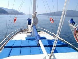 Sun Deck of Gulet (#3 of 6) - Economical Gulet Charter in Turkish Coasts