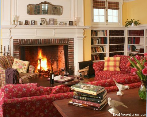 Library | Image #1/1 | Lenox, Massachusetts  | Bed & Breakfasts | Birchwood Inn- Best Breakfast in New England