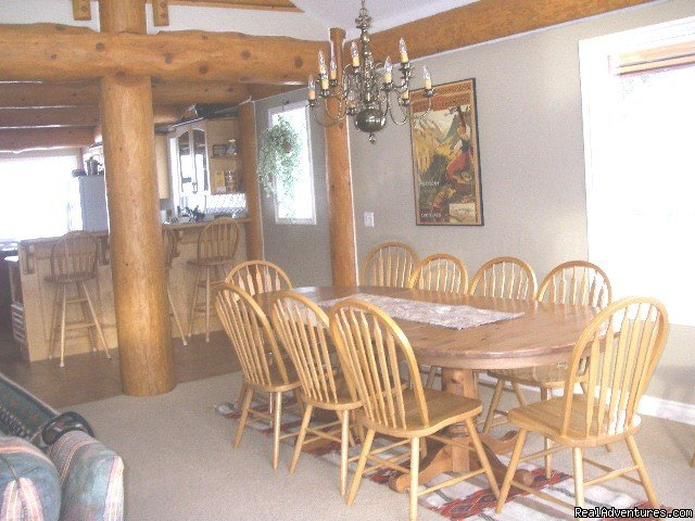 Dining area or games table. | Image #14/23 | Sun Peaks Resort Private Post &Beam Chalet