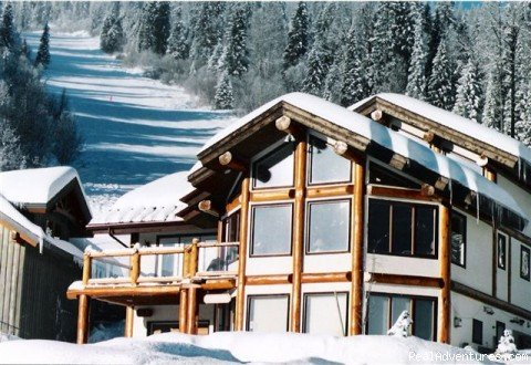 Kodiak Timber lodge, private ski in /out, log post & beam, premier location . 3 bdrms plus loft, or add 2 brm suite for 5 bdrms/loft. Open area plan, 3 eating areas, panoramic views from every window,outdoor hot tub, fully equiped kitchen