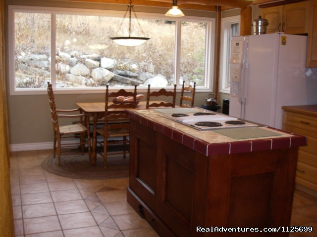 Breakfast table/kitchen area  - Sun Peaks Resort Private Post &Beam Chalet