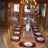 Formal dining area in great room boasting  spectacular views
