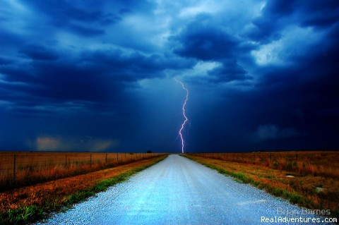 Lightning in Tornado Alley - Violent Skies Tours - Storm Chasing Adventures