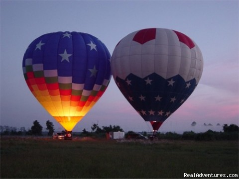Early morning Glow - Hot Air Balloon Rides with Aerostat Adventures
