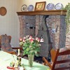 Cottage in Nature reserve between Bruges & Ghent Sittingroom with fireplace