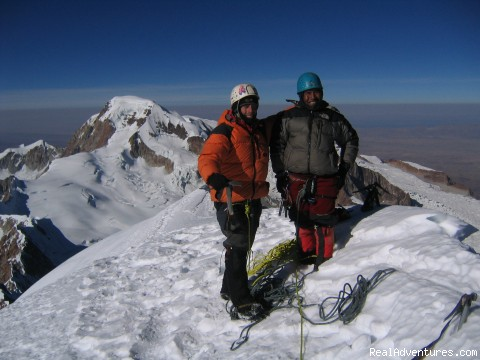 Summit of Illampu, Sorata, Bolivia - Hiking, Trekking and climbing in the Andes Bolivia