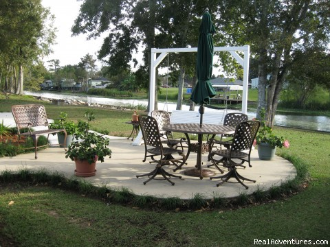 Patio area in backyard - A Chateau on the Bayou Bed and Breakfast