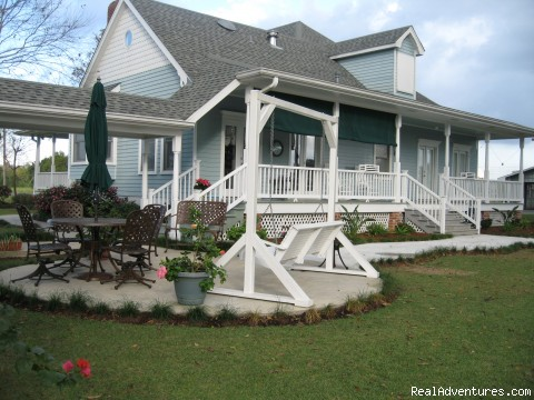 Back Porch and Patio area - A Chateau on the Bayou Bed and Breakfast