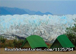 Alaska Adventure Tours: Camp at the foot of a glacier