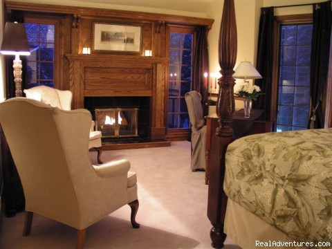 Elegant Guest Rooms with Fireplaces - A very Special Place - Stone Gables Manor