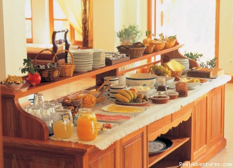 Buffet breakfast @ Hotel Matina (#2 of 15) - Hotel Matina, Santorini Island, GREECE