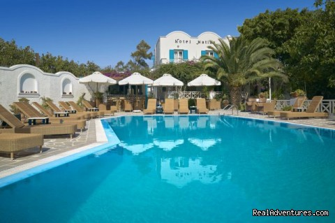 Hotel Matina, Santorini Island, GREECE: Hotel Matina swimming pool