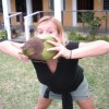 Fresh coconuts are great in Belize!