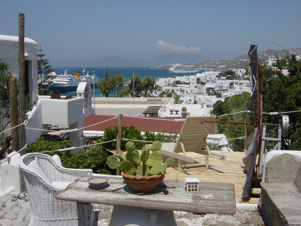 VERANDA WITH SEA VIEW | Image #5/22 | Live Your Myth In Mykonos At Ranias Apartments
