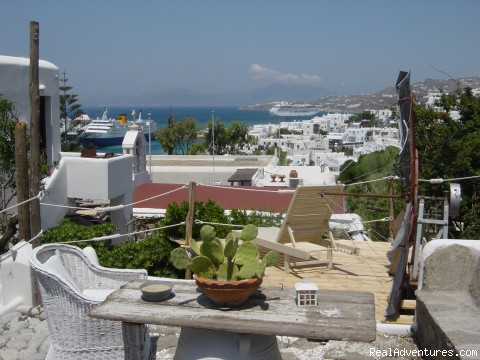 VERANDA WITH SEA VIEW - Live Your Myth In Mykonos At Ranias Apartments