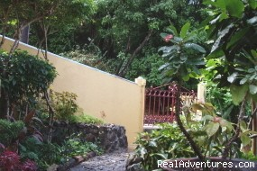 St. Thomas Vacation Rental Apartments Garden gate.