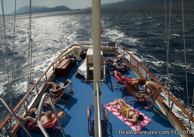Leonardo sunndeck - Croatia  coast & island cruising on yacht Leonardo