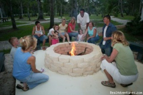 Campfire on a cool evening | Image #4/11 | Secluded Suwannee River Retreat
