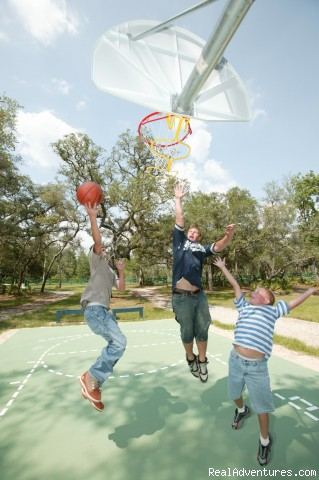 Basketball and Volleyball courts on the property - Secluded Suwannee River Retreat
