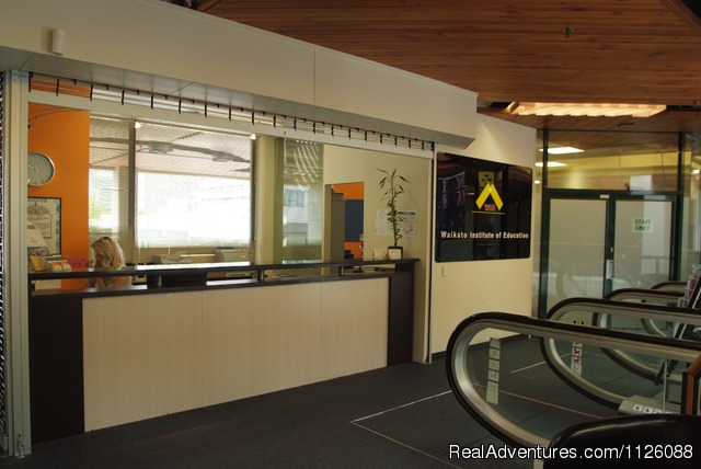 Reception area - Study English in New Zealand