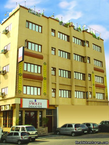 Professionally managed hotel: Hotel Swati Deluxe,Front View