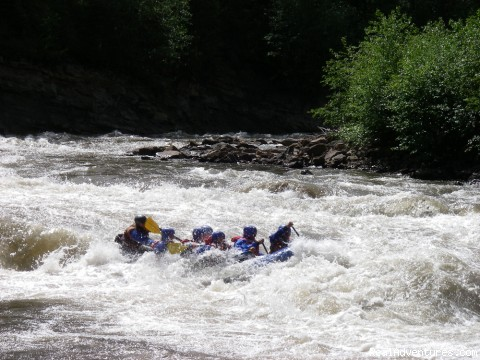 Extreme Rafting on Sheep Creek - Alberta's Best Rafting at Wild Blue Yonder