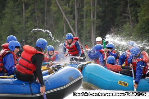 Water Fights on the Smoky River - Alberta's Best Rafting at Wild Blue Yonder