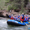 Waving to the camera on Sulphur River